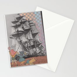 shy babies Stationery Cards