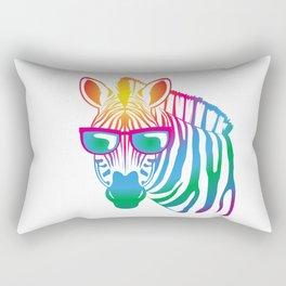 cool Zebra Rectangular Pillow