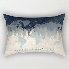 world map wanderlust forest 2 Rectangular Pillow
