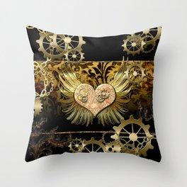 Steampunk, heart Throw Pillow