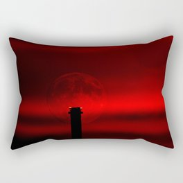 sunset, moon and flight limiting lights Rectangular Pillow