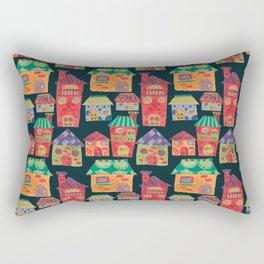The Colorful Houses Rectangular Pillow
