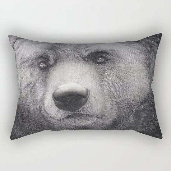 Bear Charcoal Rectangular Pillow