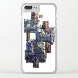 Taiwanese roofscapes 01(colored) Clear iPhone Case