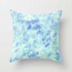 Blue lagoon Throw Pillow