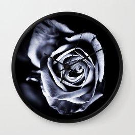 Silver Petals Wall Clock
