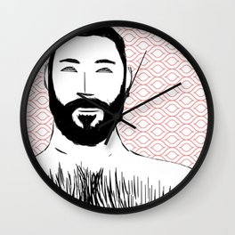 Beard Boy: Emilio Wall Clock