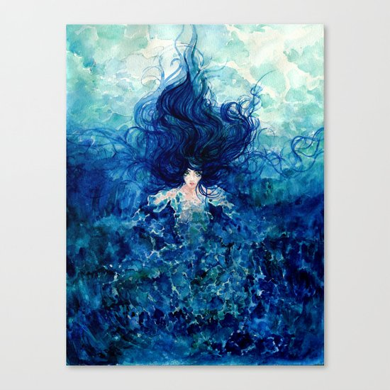 Sky From The Sea Canvas Print