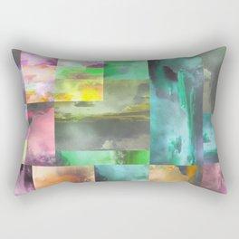 Geometric Clouds and Sky Rectangular Pillow