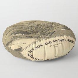 Aerial View of Wilson and Mendelssohn, Pennsylvania (1902) Floor Pillow