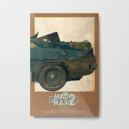 Mad Max's Black on Black Interceptor from The Road Warrior, 3 of 3 Metal Print