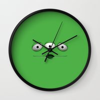 toy story Wall Clocks featuring ALIEN ALIENS TOY STORY by BeautyArtGalery