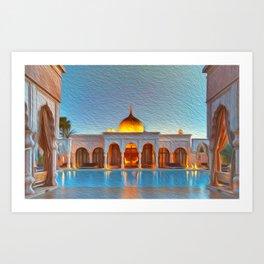 Moroccan reflections Art Print