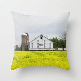 Barn and Silos 2 Throw Pillow
