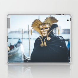 Black and gold carnival mask in Venice Laptop & iPad Skin