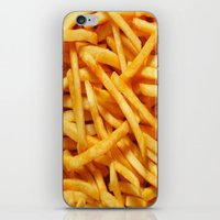 fries iPhone & iPod Skins featuring French Fries by I Love Decor