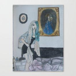 Girl with a Silk Scarf Canvas Print