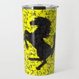 Yellow Homage To Ferrari Travel Mug