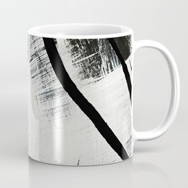 Armor [9]: a minimal abstract piece in black white and gold by Alyssa Hamilton Art Coffee Mug