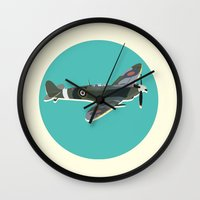 aviation Wall Clocks featuring A Brief History of Aviation by Simon Alenius