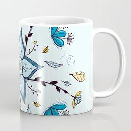 Mandala Autumn  Blue feather By Sonia H. Coffee Mug