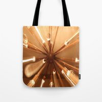 chandelier Tote Bags featuring chandelier by Chris Cooch