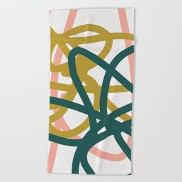 Abstract Lines 02A Beach Towel
