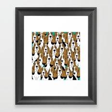 cute dogs Framed Art Print