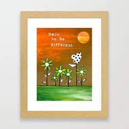 """""""Dare To Be Different"""" Original design by PhillipaheART Framed Art Print"""