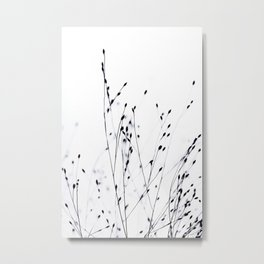 BLACK GRASS Metal Print