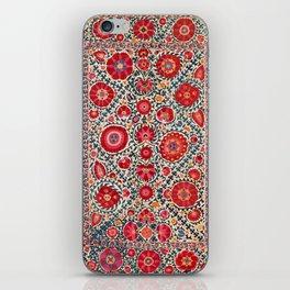 Kermina Suzani Uzbekistan Embroidery Print iPhone Skin