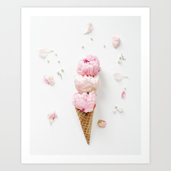 Triple Scoop Art Print