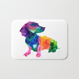 Abstract Dachshund Bath Mat