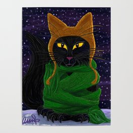 Another Satisfied Yule Cat Poster