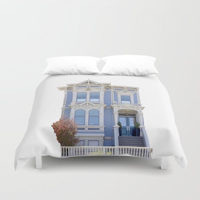 Blue House San Francisco Duvet Cover
