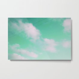 mint window Metal Print