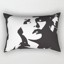 Blondie, Music Legend, Black, White, Cinema, Art, Author, Song Writer, Musician, Punk, Rectangular Pillow