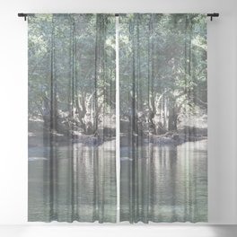 Tranquil Stream Sheer Curtain