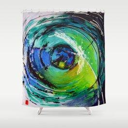 L'œil sur le futur, acrylique / Eye on the futur, Acrylic artwork Shower Curtain