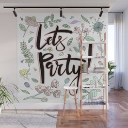 Let's Party Wall Mural