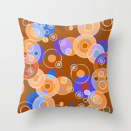 Hot Bubbles Throw Pillow