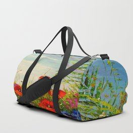 Field in poppies and cornflowers Duffle Bag