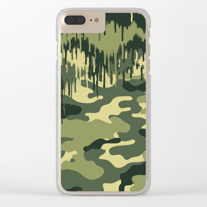 CAMOUFLAGE V Clear iPhone Case