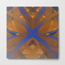 Cyril Orange & Blue dpa150607.a3 Metal Print