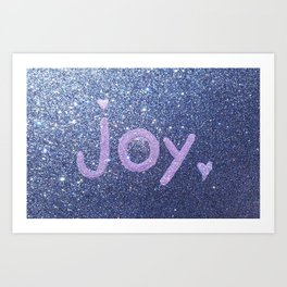 Joy Glitter Card Art Print