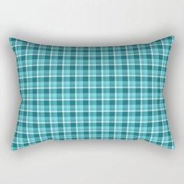 Teal Plaid Rectangular Pillow