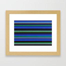 Colored Lines - Blue Framed Art Print