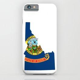 Flag Map of Idaho iPhone Case