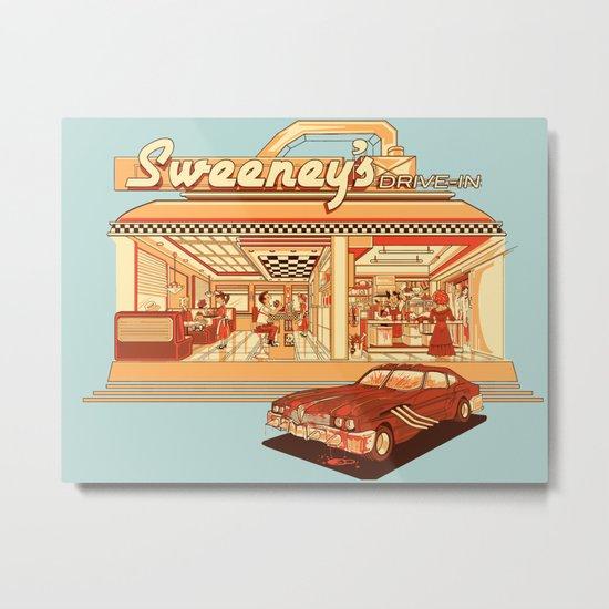 Sweeney's Diner Metal Print