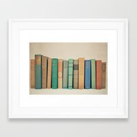 literary Framed Art Prints featuring Literary Gems I by Laura Ruth